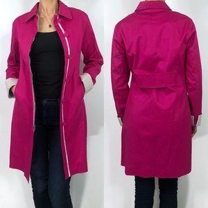 Calvin Klein Pink Lightweight Trench Coat Petite
